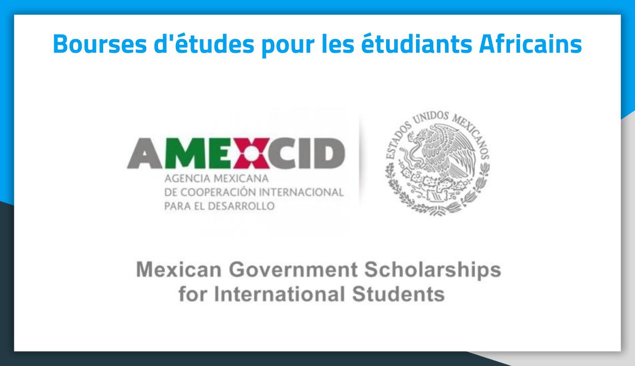 Bourses d'études au Mexique AMEXCID 2019